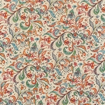 Bertini Florentine Paper- Filagree Leaves and Flowers 19x27 Inch Sheet