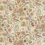 Bertini Florentine Paper- Art Nouveau Flowers and Swirls 19x27 Inch Sheet