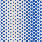 Dancing Dots Op Art Paper (Optical Illusion)- Blue on Natural