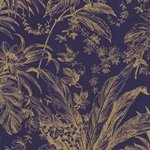"Tassotti Paper - Blue Gold Damask 19.5""x27.5"" Sheet"