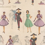 "Tassotti Paper - 1950's Fashion 19.5""x27.5"" Sheet"