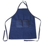 Heritage Arts Extra Large Adult Size Denim Artist Apron