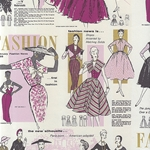 "Rossi Decorated Papers from Italy - 1950's Women's Fashion, Purples 28""x40"" Sheet"