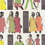 "Rossi Decorated Papers from Italy - 1970's Women's Fashion 28""x40"" Sheet"