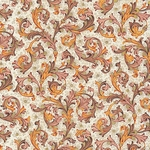 "Rossi Decorated Papers from Italy - Traditional Florentine in Orange & Gold 28""x40"" Sheet"