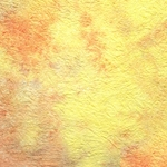 "Thai Sheer Watercolor Momi – Yellow/Peach/Lavender 23x34"" Sheet"
