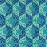 Printed Cotton Paper from India-  Teal Radiance 22x30 Inch Sheet