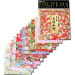 Yasutomo Fold'ems Origami Paper yuzen: 8 patterns 5 7/8 in. pack of 12