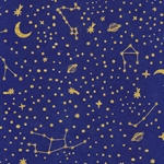 "Nepalese Printed Paper- Starry Night Constellations 20x30"" Sheet"