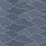 Nepalese Printed Paper- Asian Art Deco Clouds