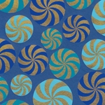 Printed Cotton Paper from India- Pinwheel Mint Papers