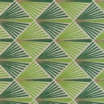 "Printed Cotton Paper from India- Art Deco Palm Fronds 20x30"" Sheet"
