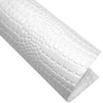 "Crocodile Embossed Paper- White 22x30"" Sheet"