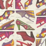 "Rossi Decorated Papers from Italy - Fashion Shoes 28""x40"" Sheet"