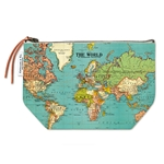 Cavallini Vintage Pouch- World Map