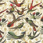"""NEW!"" Rossi Decorated Papers from Italy - Hummingbirds 28""x40"" Sheet"
