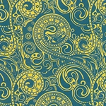*NEW!* Art Nouveau Paisley Print from Nepal