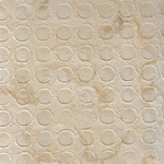 "Amate Bark Paper from Mexico- Coin Pattern Blanco White 15.5x23"" Sheet"