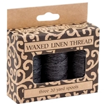 Lineco Waxed Linen Thread- Boxed Sets of 3 Spools