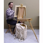 French Style Sketch Box Easel, Canvas Backpack & Leather Stool