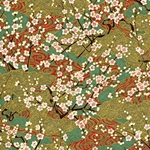 "Cherry Blossom on Green - 18""x24"" Sheet"