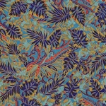 "Indigo & Cobalt Rainforest Leaves - 18""x24"" Sheet"