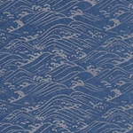 "Indigo and Metallic Silver Waves - 18""x24"" Sheet"