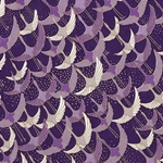 "Cranes in Shades of Purple - 18.5""x25"" Sheet"