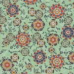 "Hana Yuzen Ornaments Mint Green - 18.5""x25"" Sheet"
