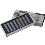Daler-Rowney Soft Pastels - Grey Selection Set of 8