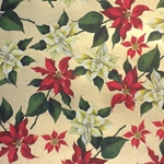 "ROSSI Poinsettia Fine Art and Gift Wrap Paper 28""x40"" Sheet"