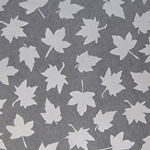 "Thai Sheer Silhouettes - White Maple Leaves - 25""x37"" Sheet"