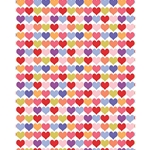 "Multicolor Hearts Paper - 19""x26"" Sheet"