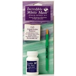 Grafix Incredible White Mask 2oz, Liquid Frisket Remover and the Dipstik