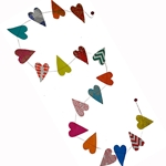 Decorative Paper Garland- Multicolor Hearts