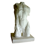 Plaster Cast Large Male Torso