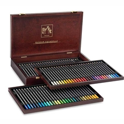Caran D'ache Museum Aquarelle Watercolor Pencils - 72 Colors in a Wood Box