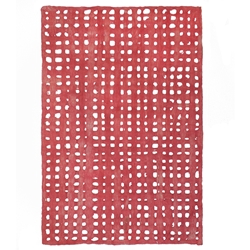 Amate Bark Paper from Mexico- Weave Rojo 15.5x23 Inch Sheet