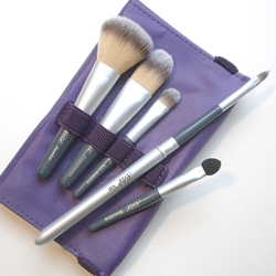 Silver Brush Beauty Brush 6 Piece Grey Handle - Purple Case