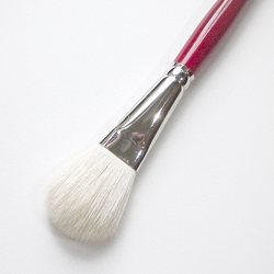 Silver Brush - Goat Hair Silver Mop - White Oval Mop