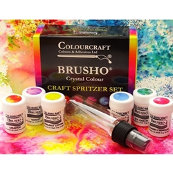 Brusho Crystal Colours Craft Spritzer Set of 6