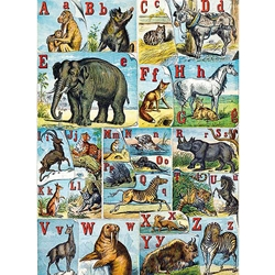 "Alphabet of Animals by Ernest Griset- Poster Paper 19.5 x 27.25"" Sheet"