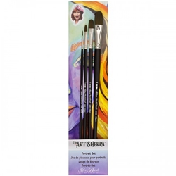 The Art Sherpa Portrait Brush 4 Piece Set