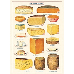 "Cavallini Decorative Paper - Cheese 20""x28"" Sheet"