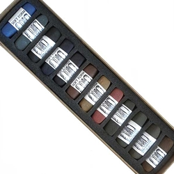 Diane Townsend Handmade Soft Pastel Sets - Intense Dark Colors Set of 12 Pastels