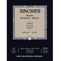 Arches Cream Drawing Pads
