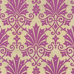 "Rossi Decorated Papers from Italy - Purple Damask Flowers 28""x40"" Sheet"
