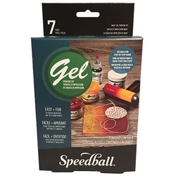 "Akua Gel Printing Kit, Speedball Akua Gel Printing Kit - 5"" x 5"" Plate plus Supplies"