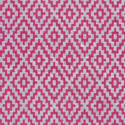 Zig Zag Steps Op Art (Optical Illusion) Paper- Silver on Magenta