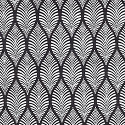 "Zebra Leaf- White on Black 22x30"" Sheet"